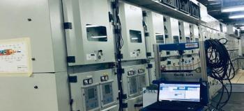 Serviço de manutenção em cabine primaria
